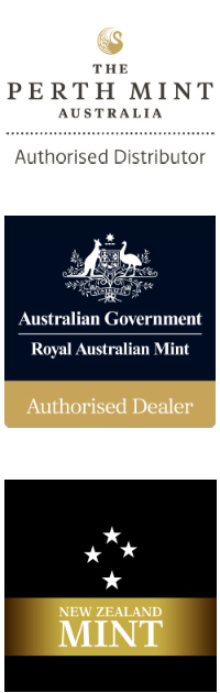 Authorised Distributors - The Perth Mint- Royal Australian Mint - New Zealand Mint